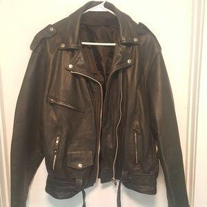 Jackets & Blazers - Leather motorcycle jacket plus size 3x